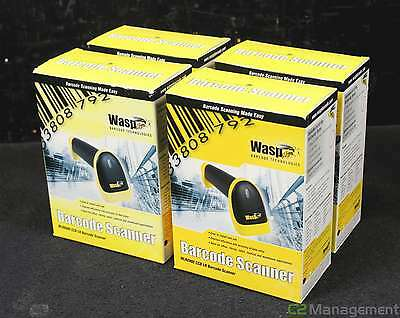 Lot of 4 NEW Wasp WLR8900 CCD LR Barcode Scanners