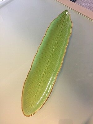 Green Leave Style Serving Platter Plate Dish