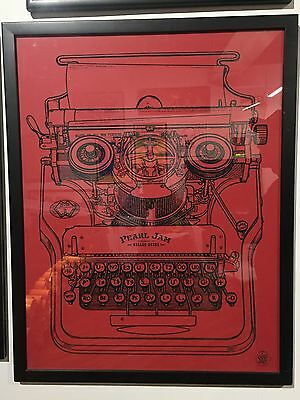 Pearl Jam - 2006 Ames Brothers poster Pittsburgh FRAMED
