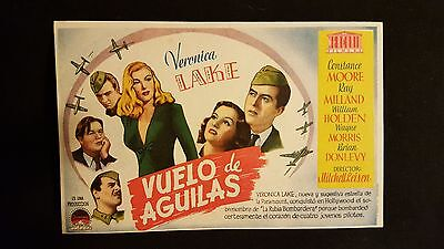 I Wanted Wings ORG 1945 Spanish Herald Movie Poster Veronica Lake, Ray Milland
