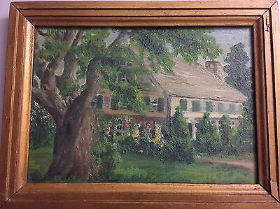 Vintage oil painting of rural landscape n.d. and unsigned