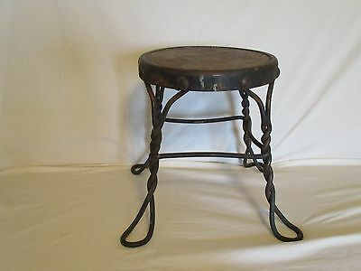 Little Metal And Wooden Stool
