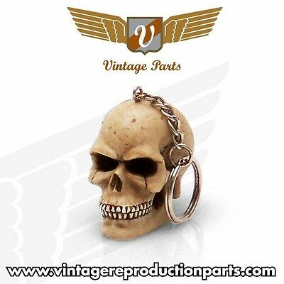 US SELLER Fast Shipping Pilot Automotive Die-cast Skull with Crystal Key Chain