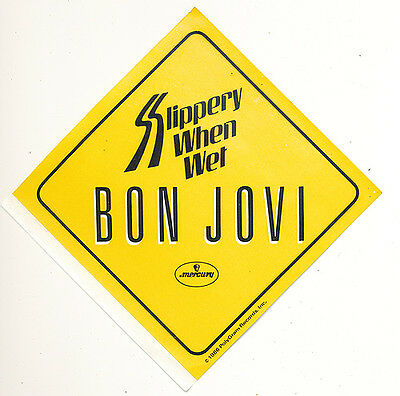 Bon Jovi Slippery When Wet RARE promo sticker '86