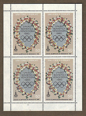 S.Tome & Principe 1981 OLYMPIC GAMES MOSCOW Overprinted Silver & Black MS SC 597