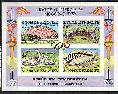 Sao Tome & Principe 1980 Olympics Lake Placid & Moscow MNH S/S Imperf SC # 572