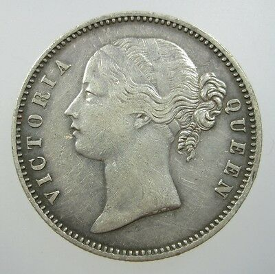 India British 1 Rupee 1840 Silver Sharp #n Victoria Crown World Money Coin