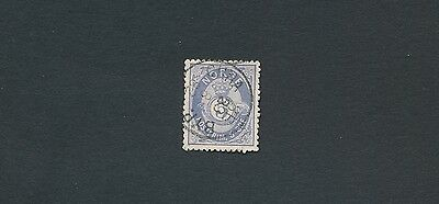 "1877 Norway ""POST HORN & CROWN"" #24a; CV $125"