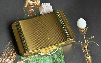 Vintage Stratton Gold Vanity Powder & Mirror Compact 40s PAT. 562662