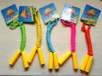 7ft NEON COLOURED SKIPPING ROPES,Adjustable. Fun,Exercise for Adults/Kids,Gift.