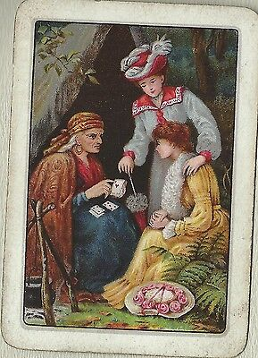 Vintage Playing Swap Cards  Old Wide  FORTUNE TELLING  Old World