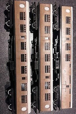 Hornby Tri-ang LNER teak coaches x3
