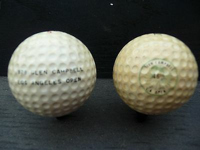 Two Vintage Los Angeles Open (Glen Campbell) Golf Balls