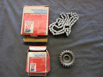 Harley KR750 parts - primary sprocket and chain NOS