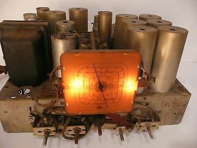 vintage * GE GENERAL ELECTRIC M-81 TOMBSTONE:  Non-Working CHASSIS w/ 8 TUBES