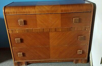 Early 1900's Waterfall Dresser, 3 Drawer