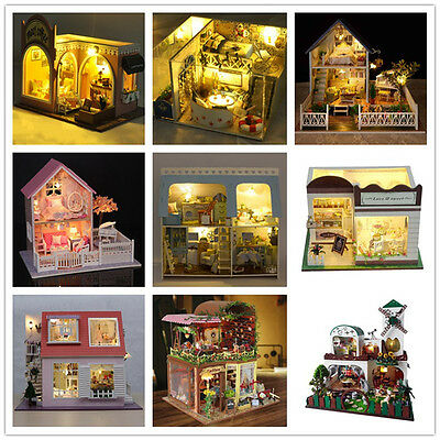 DIY Wooden Dolls House Barbie Vintage Doll House Victorian Dollhouse Furniture
