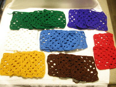 20 Vintage Homemade Knit Colorful Pot Holders