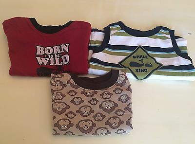 Gymboree Carter's Roots Baby Boy 18 Months Shirts Tops Lot Of 3 Summer
