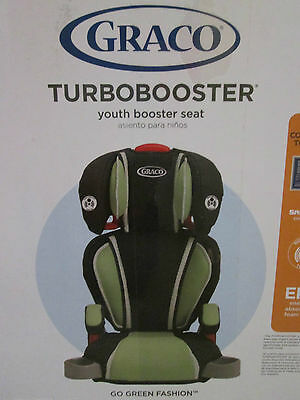 GRACO Turbobooster High Back Youth Booster Seat Car Seat Green/Black