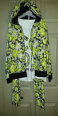 Justice Girls Super Cute Floral 3 Piece Outfit Size 12/14