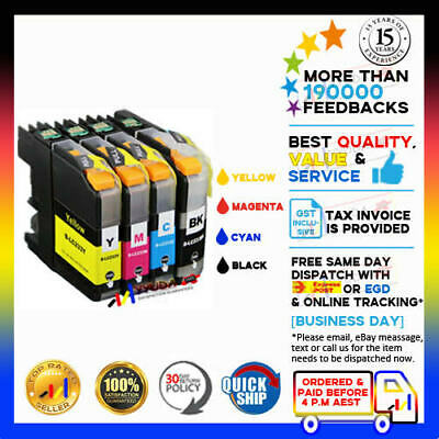 4x Generic LC233 LC-233 BCMY Ink Cartridges for Brother MFC-J5320DW MFC-J5720DW