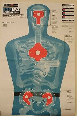Life Size Skeletal Target Poster W/immobile Target Zone Training