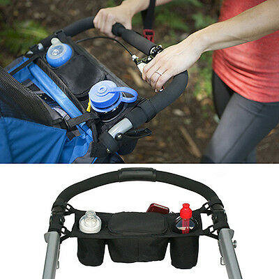 Baby Stroller Organizer Cooler Thermal Bags Pram Buggy Cart Bottle Holder Witty