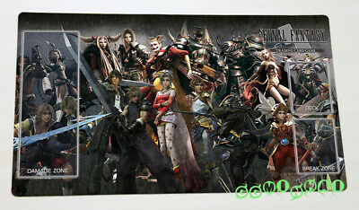 F1245# Free Mat Bag Final Fantasy Trading Card Games Custom Playmat TCG CCG