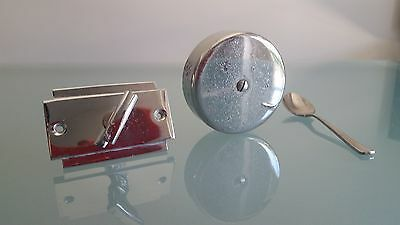 Art Deco Vintage Door Bell Set. Some Pitting But Its All There And Working. 1930