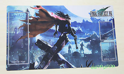 F1247# Free Mat Bag FF7 Vincent Valentine Final Fantasy TCG CCG Custom Playmat
