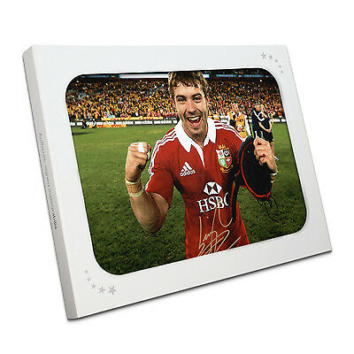 Leigh Halfpenny Signed British Lions Rugby Photo In Gift Box Sport Memorabilia