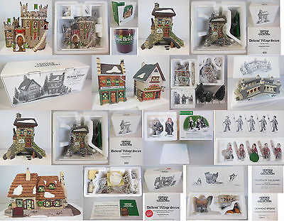 Dept 56 Dickens Village Collection #5, Set Of 5 Buildings & 6 Accessories