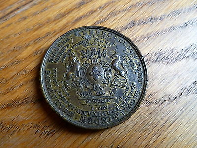 1758 George Ii Bronze Medal, Britain Victories, North America, French & Indian W