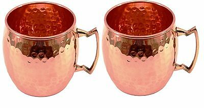 SET OF 2  100% COPPER  MOSCOW MULE MUG COPPER MUGS HEALTH digestion weight