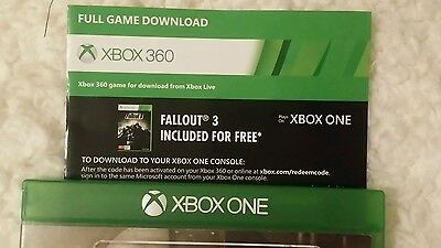 Fallout 3 Download Code Xbox 360 / One