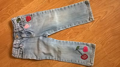 girls cherries jeans from BABY GAP age 2