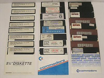Lot of Commodore 64 Video Game and Program 5.25'' Floppy Disks