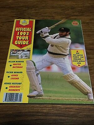 TCCB Official 1993 Tour Guide with authentic cricket signatures