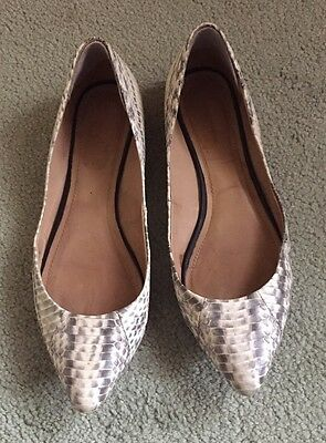 Country Road Flats Leather/Snakeskin Shoes Size 40