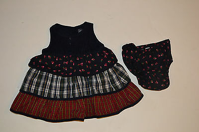 Pre-Owned Infant Girls Baby Gap 2-Pc Jumper Dress Size 0-3 Mths