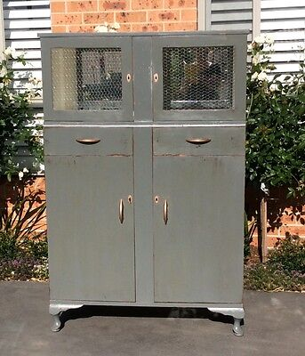 Luv Vintage Shabby Chic Display Cabinet/ Cupboard
