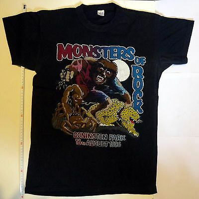 Vintage monsters of rock t-shirt 1986