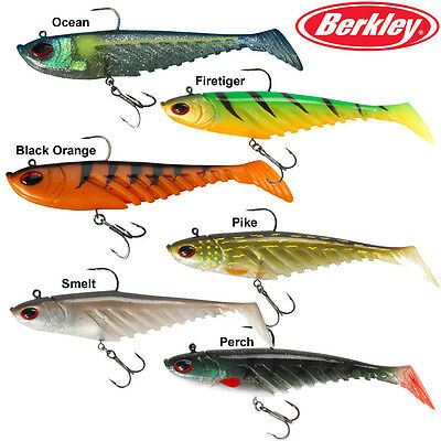 Berkley Powerbait Prerigged Giant Ripple Shad 16Cm / 20Cm Pike Predator Lure