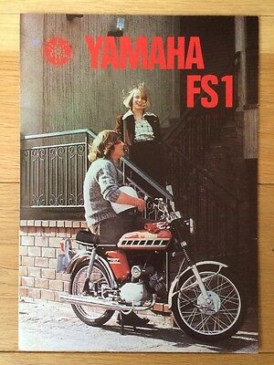 NOS Genuine Yamaha FS1E Sales Brochure 1976 FS1/76/250.000/E Baja Brown