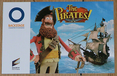 Aardman Animation Pirates Adventure with Scientists promotional postcard new
