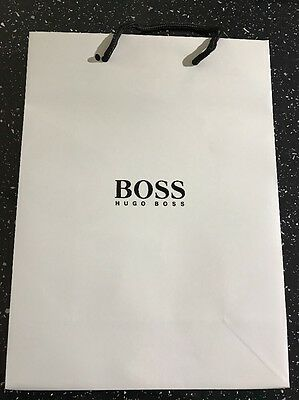 HUGO BOSS GIFT/CARRIER BAG H30cm x W22cm x D10cm, MEDIUM SIZE