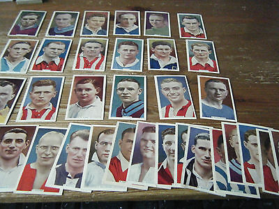 35  Godfrey Phillips   International Caps  Football Cards  Vgc  All Listed