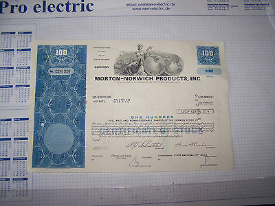 100 Shares Morton-Norwich Products,Inc. + 100-Shares-Westvaco-Co