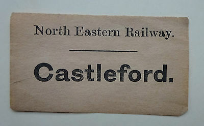 North Eastern Railway (Ner) Luggage Label To Castleford – Bargain!!